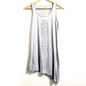 Nanette Lepore Cut Out Heather Grey Swim Cover Up